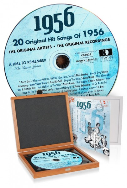 CD 1956 Musik-Hits in Luxusbox