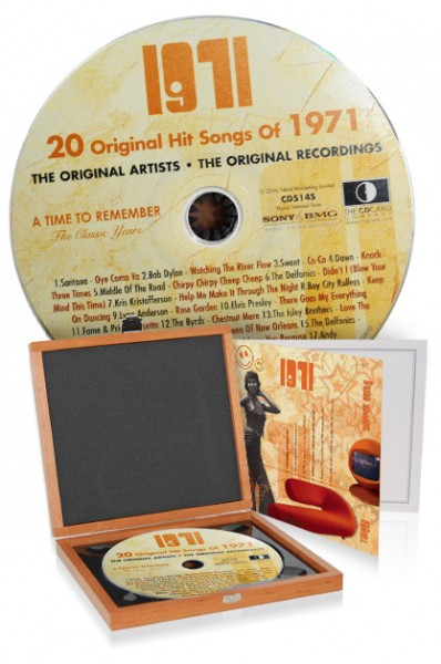 CD 1971 Musik-Hits in Luxusbox