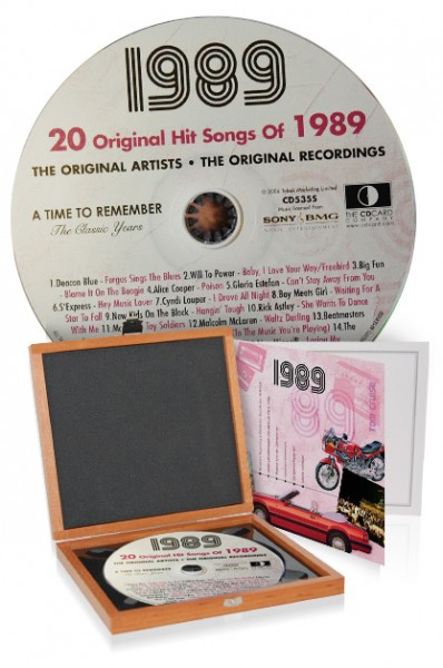 CD 1989 Musik-Hits in Luxusbox