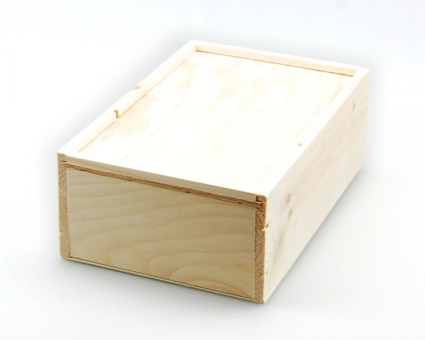 Holzkiste für 1 Boxbeutelflasche