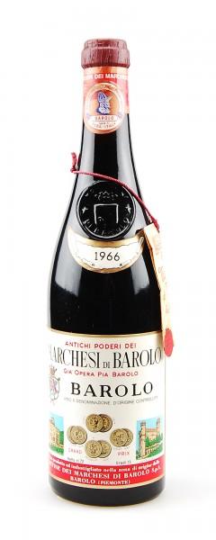 Wein 1966 Barolo Marchesi di Barolo