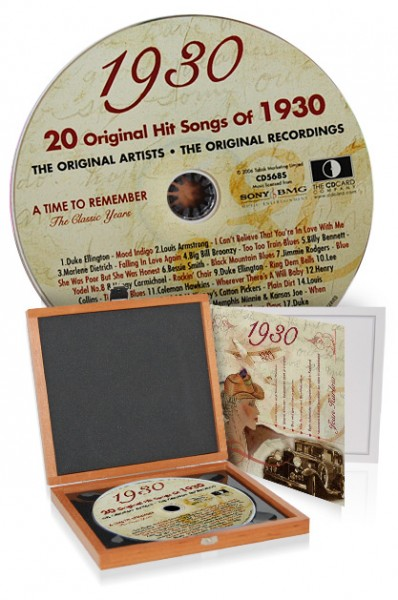 CD 1930 Musik-Hits in Luxusbox