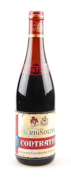 Wein 1972 Grignolino Giuseppe Contratto