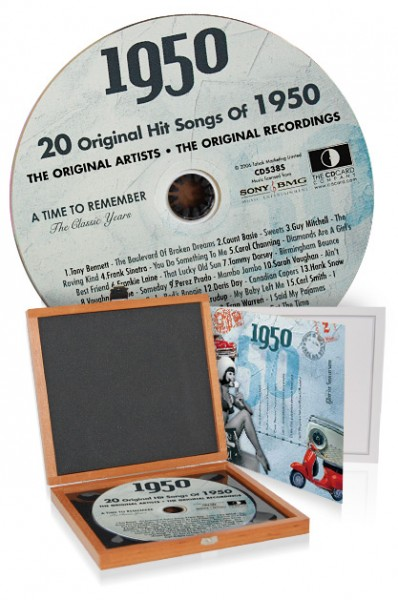 CD 1950 Musik-Hits in Luxusbox