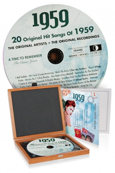 CD 1959 Musik-Hits in Luxusbox