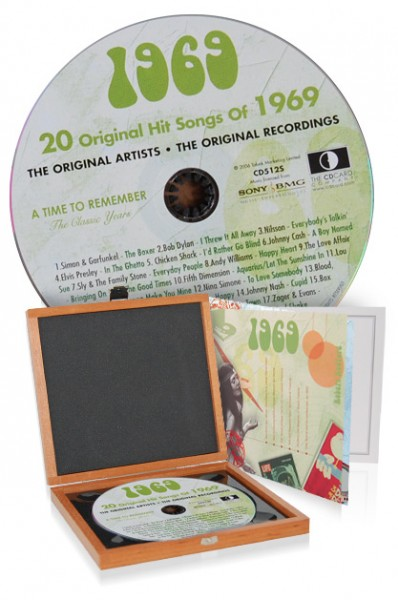CD 1969 Musik-Hits in Luxusbox