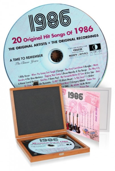 CD 1986 Musik-Hits in Luxusbox