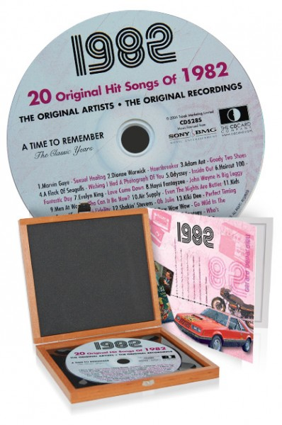 CD 1982 Musik-Hits in Luxusbox