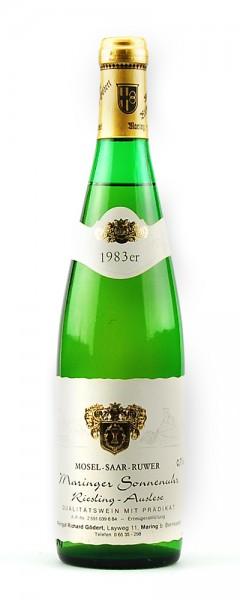 Wein 1983 Maringer Sonnenuhr Riesling Auslese
