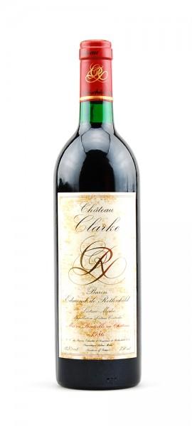 Wein 1986 Chateau Clarke Baron de Rothschild Listrac