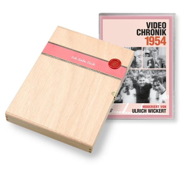 DVD 1954 Chronik Deutsche Wochenschau in Holzkiste