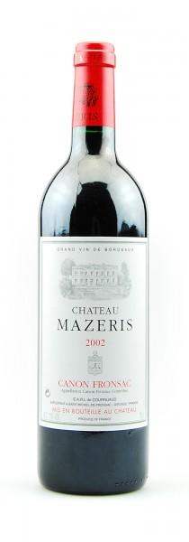 Wein 2002 Chateau Mazeris Grand Vin de Bordeaux