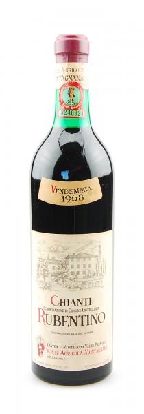 Wein 1968 Chianti Montagnana Rubentino