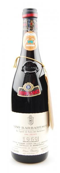 Wein 1969 Barbaresco Bersano Cremosina