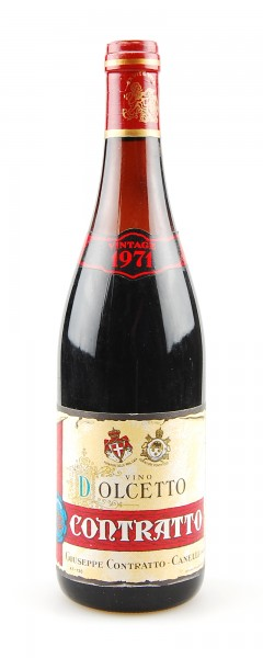 Wein 1971 Dolcetto Giuseppe Contratto