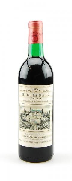 Wein 1966 Chateau des Lauriers Appelation Bordeaux