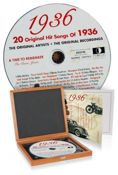 CD 1936 Musik-Hits in Luxusbox