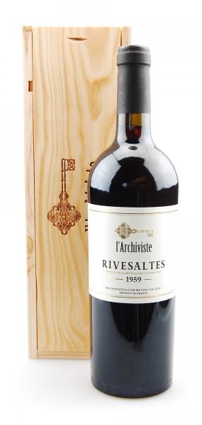 Wein 1959 Rivesaltes L´Archiviste