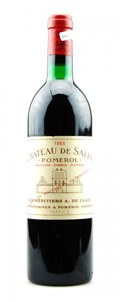 Wein 1985 Chateau de Sales Appelation Pomerol