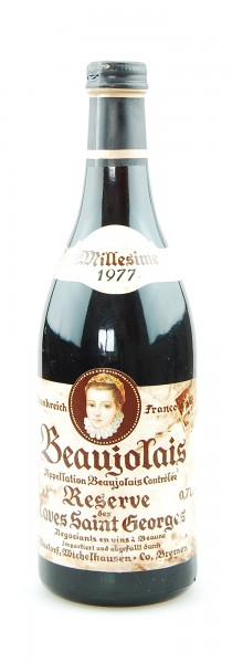 Wein 1977 Beaujolais Reserve de Caves Saint Georges