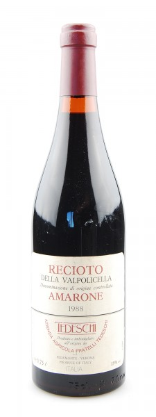Wein 1988 Amarone Tedeschi Recioto della Valpolicella