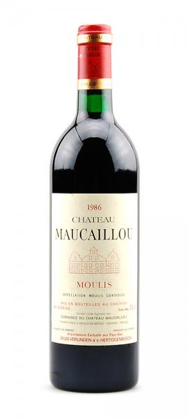 Wein 1986 Chateau Maucaillou Cru Bourgeois