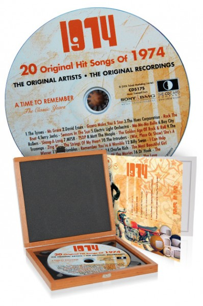 CD 1974 Musik-Hits in Luxusbox