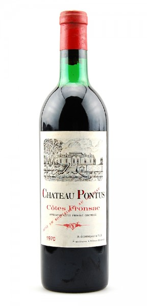 Wein 1970 Chateau Pontus Cotes Fronsac