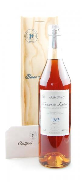 Armagnac 1963 Baron de Lustrac 0,7l in Holzkiste