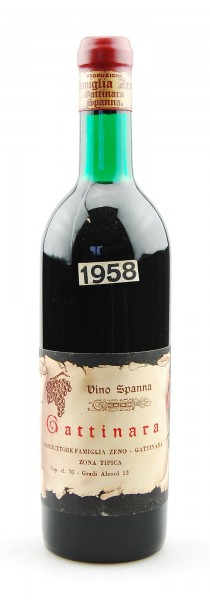 Wein 1958 Gattinara Spanna Famiglia Zeno