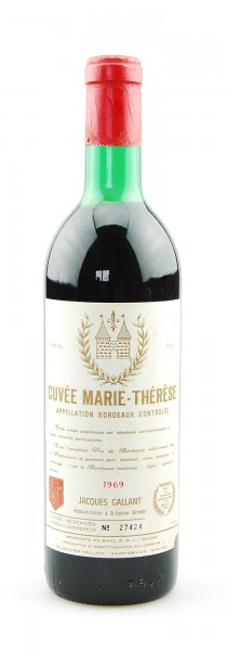 Wein 1969 Cuvee Marie-Therese Appelation Bordeaux