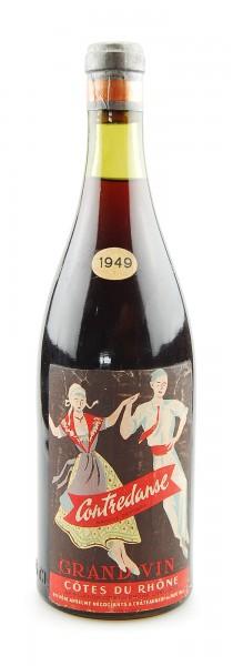 Wein 1949 Cotes du Rhone Contredanse