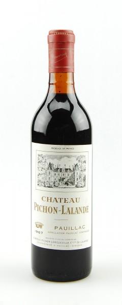Wein 1967 Chateau Pichon-Lalande Longueville Pauillac