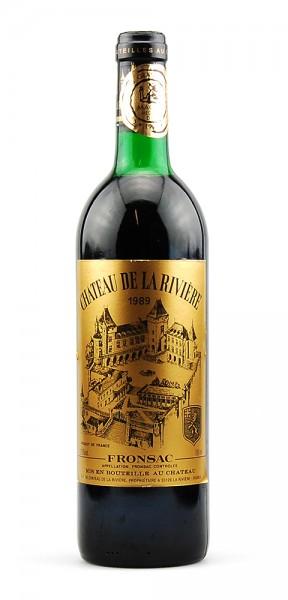Wein 1989 Chateau de la Riviére