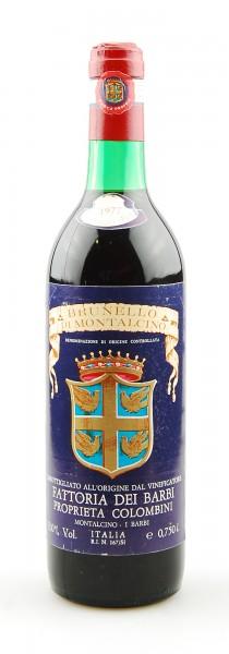 Wein 1977 Brunello di Montalcino Fattoria dei Barbi