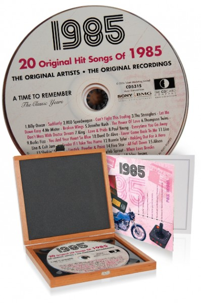 CD 1985 Musik-Hits in Luxusbox