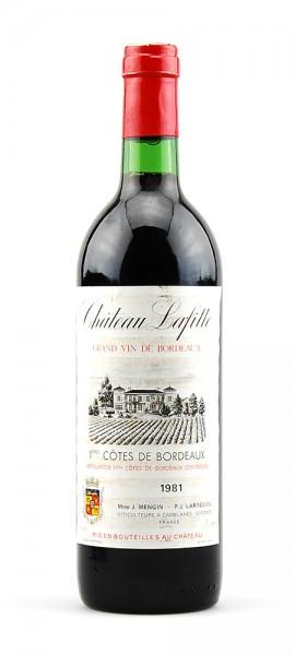 Wein 1981 Chateau Lafitte 1eres Cotes de Bordeaux