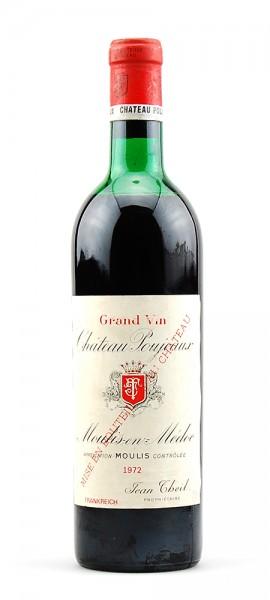 Wein 1972 Chateau Poujeaux Moulis-en-Medoc