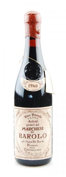 Wein 1960 Barolo Riserva Marchesi di Barolo Gia Opera