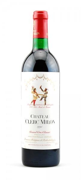 Wein 1991 Chateau Clerc Milon Rothschild 5eme Grand Cru