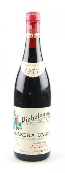Wein 1977 Barbera d´Asti Pinbologna
