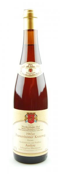 Wein 1982 Framersheimer Kreuzweg Kerner Auslese