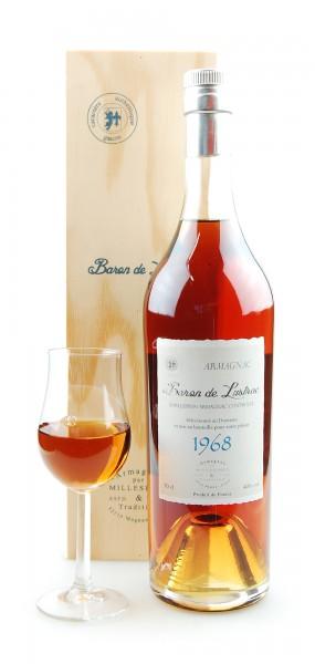 Armagnac 1968 Baron de Lustrac 0,7l in Holzkiste