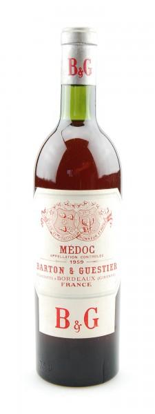 Wein 1959 Medoc Barton & Guestier
