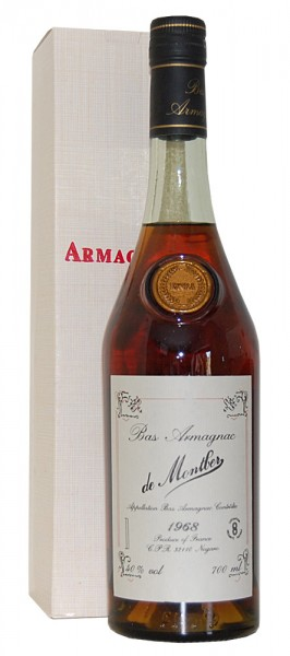 Armagnac 1968 Bas Armagnac de Montber