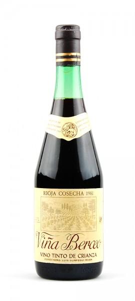 Wein 1981 Rioja Vina Berceo Luis Gurpegui Muga