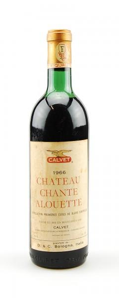 Wein 1966 Chateau Chante Alouette Cotes de Blaye