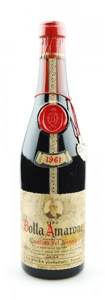 Wein 1961 Amarone Bolla Cantina dell Nonno
