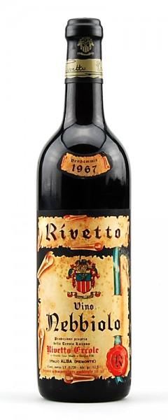 Wein 1967 Nebbiolo Rivetto Riserva Speciale