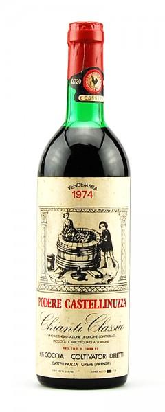 Wein 1974 Chianti Classico Podere Castellinuzza